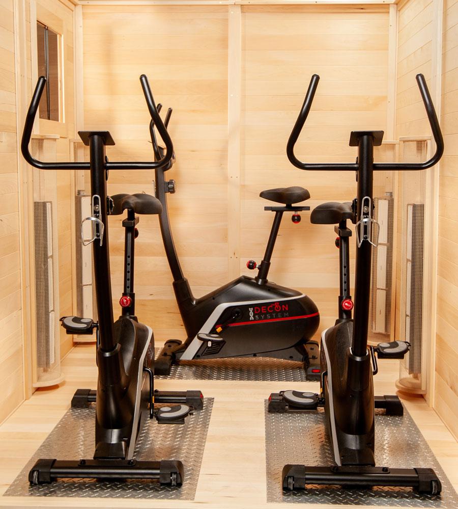 SaunaRay Athletic Infrared Saunas for Stationary Bike