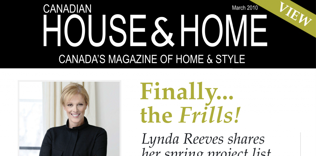 SaunaRay featured in House and Home Magazine