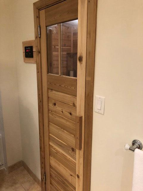 Built in retrofitted SaunaRay far infrared sauna
