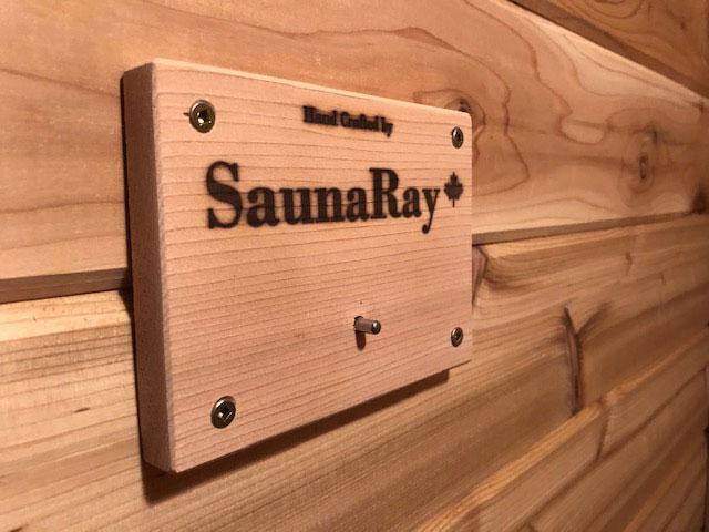 Built in retrofitted SaunaRay far infrared sauna inside