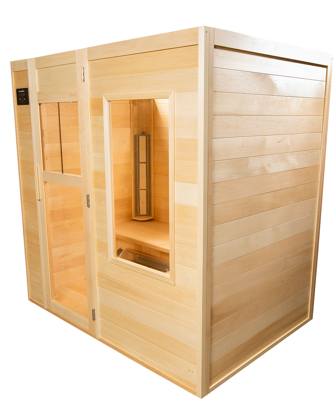 Right Side View of the Four Person Far Infrared Sauna Handmade by SaunaRay