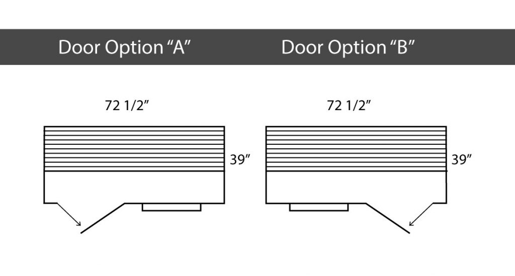Dimensions of the SaunaRay SR1 three-person infrared sauna