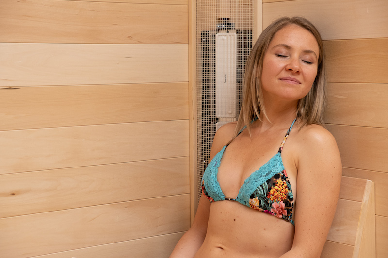 woman relaxing in a